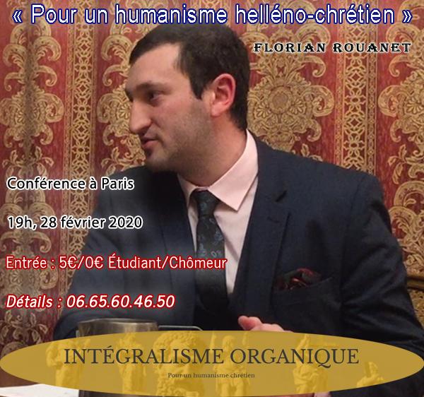 Prochaine conférence 2020 de Florian Rouanet à Paris