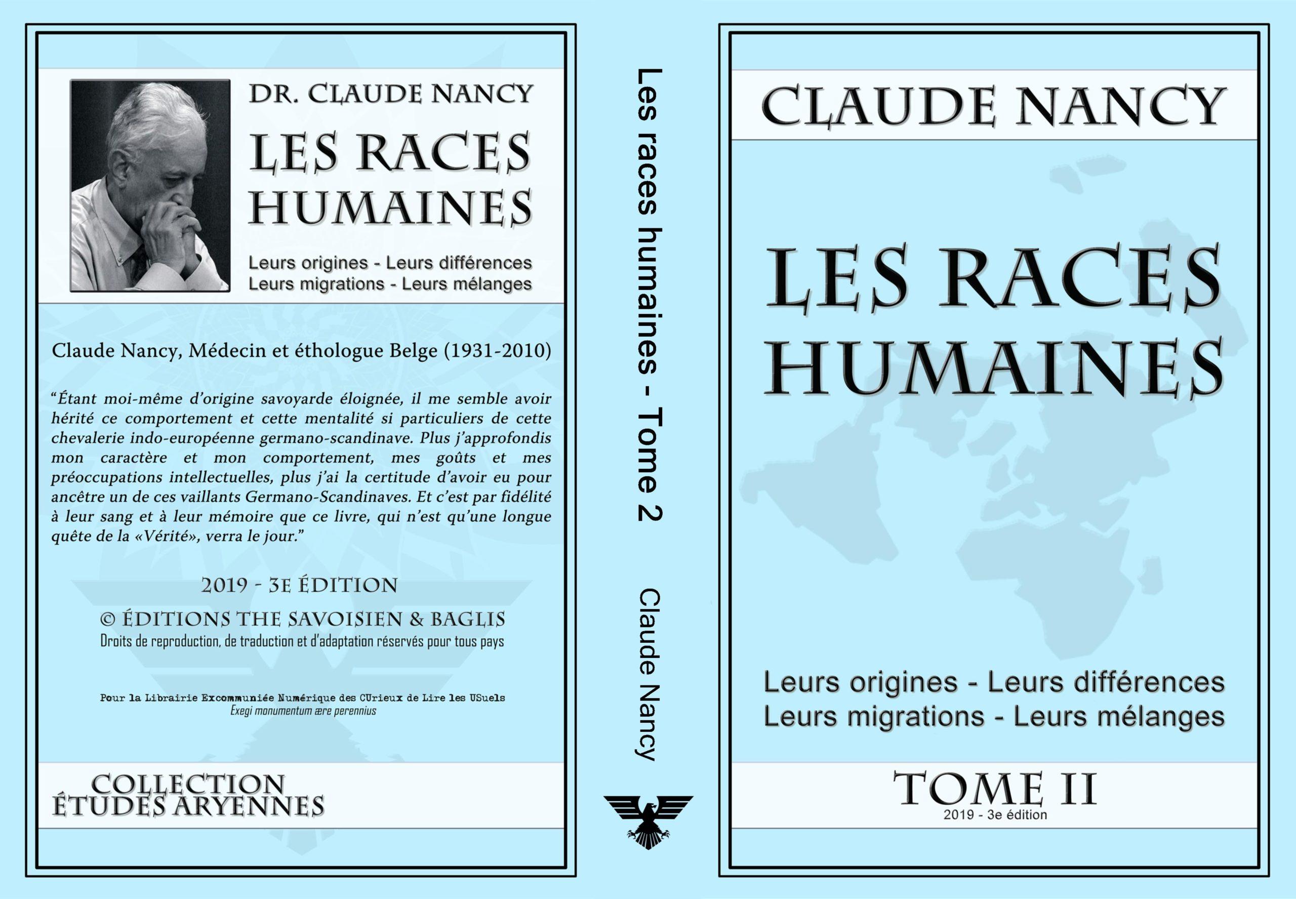 Les races humaines de Claude Nancy, déterminismes et réalisme