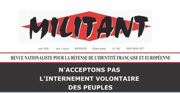 « Comment interner les peuples avec leur consentement » éditorial de Militant N°726