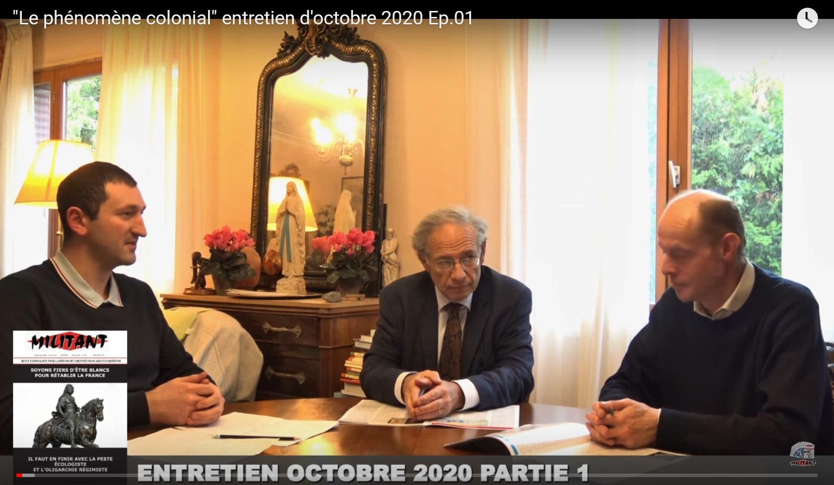 « Le phénomène colonial », entretien d'octobre 2020 (André Gandillon)