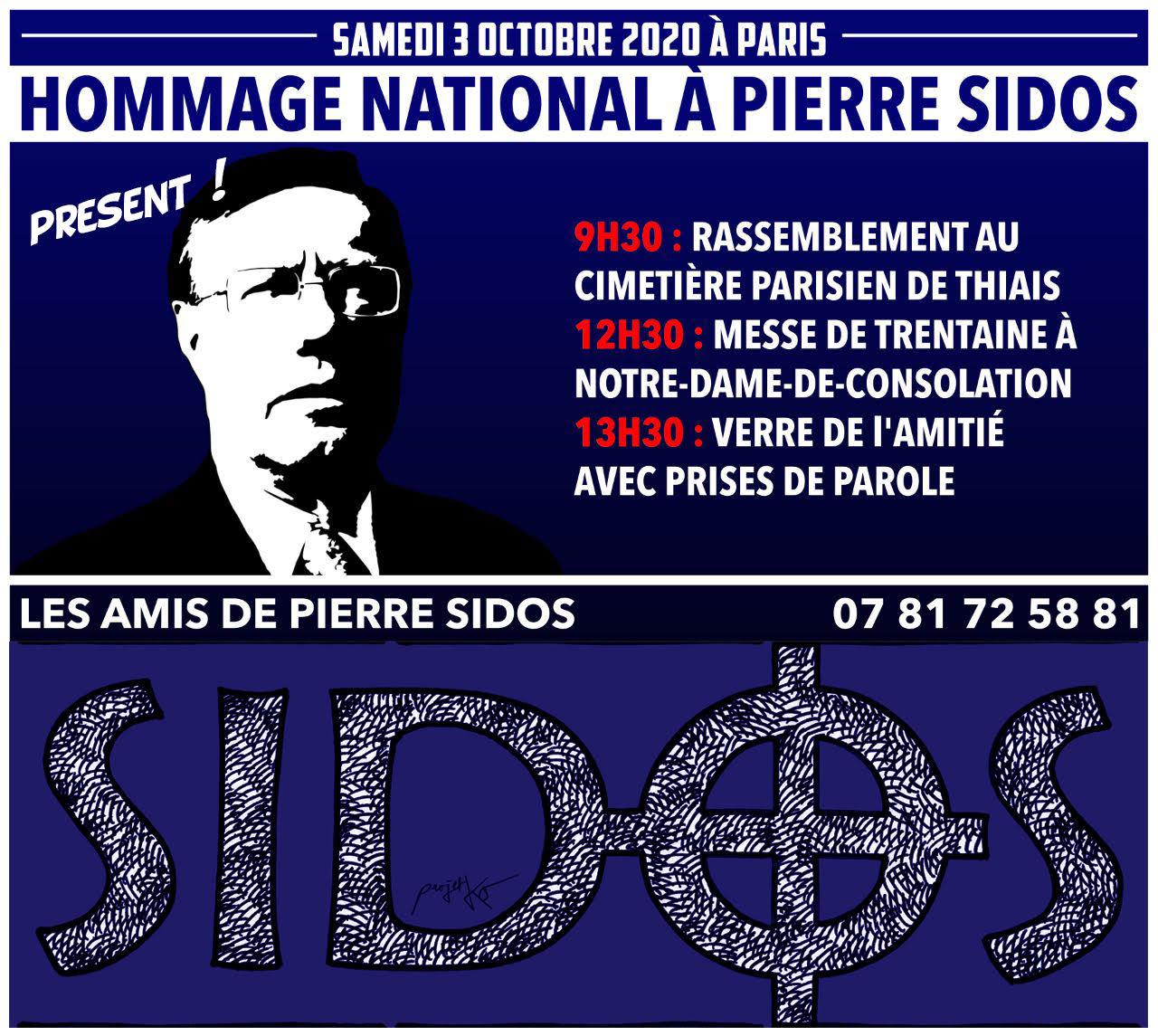 Éloge funèbre de Pierre Sidos à l'occasion de sa commémoration de 2020 avec Jeune Nation (Florian Rouanet)