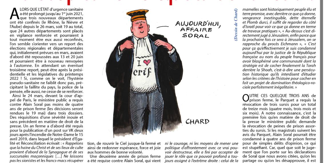 4 ans de prison ferme requis contre Alain Soral (Jérôme Bourbon)