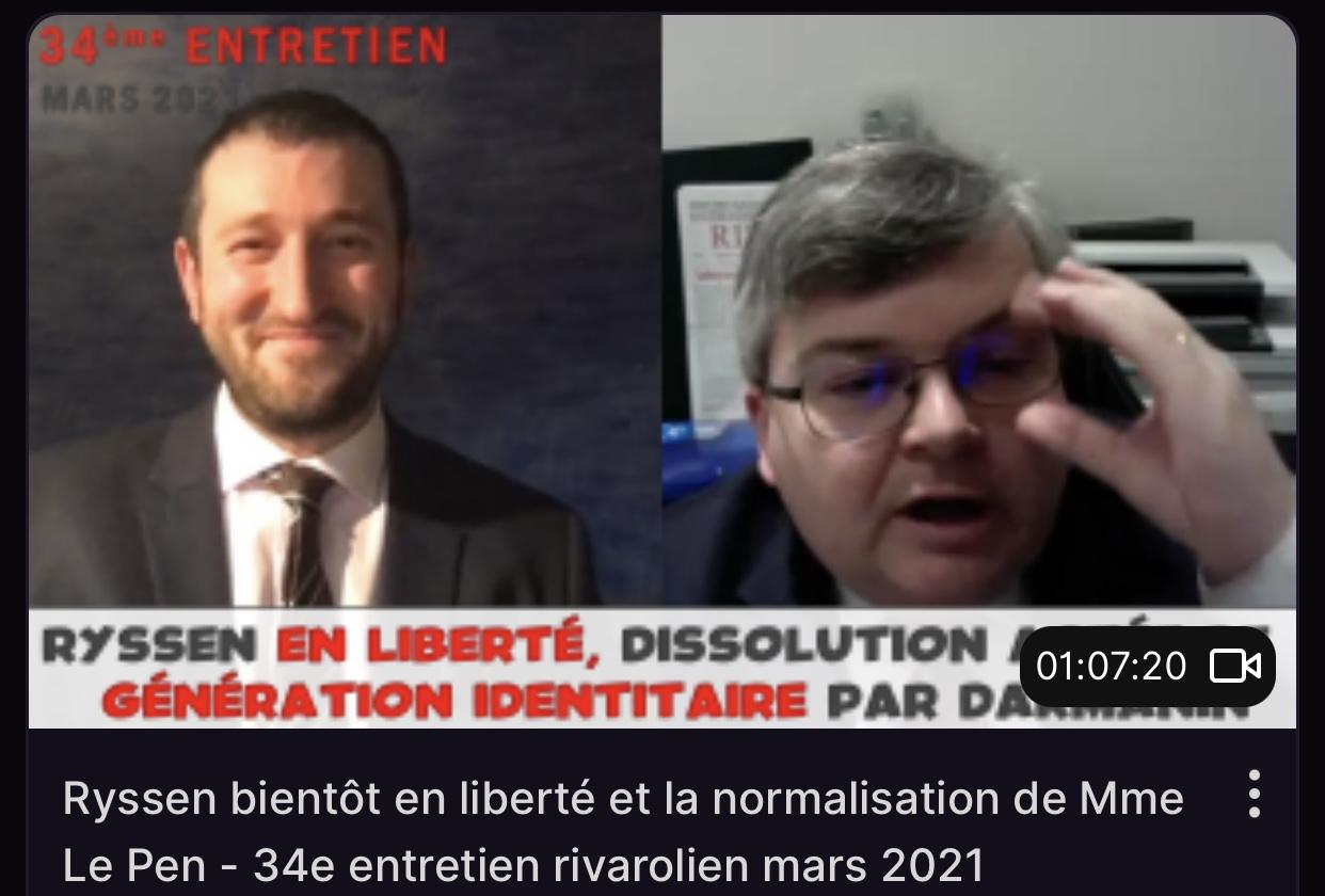 Ryssen bientôt en liberté et normalisation de Mme Le Pen - 34e entretien rivarolien