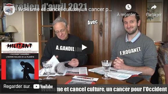 « Wokisme et cancel culture, un cancer pour l'Occident » avec André Gandillon