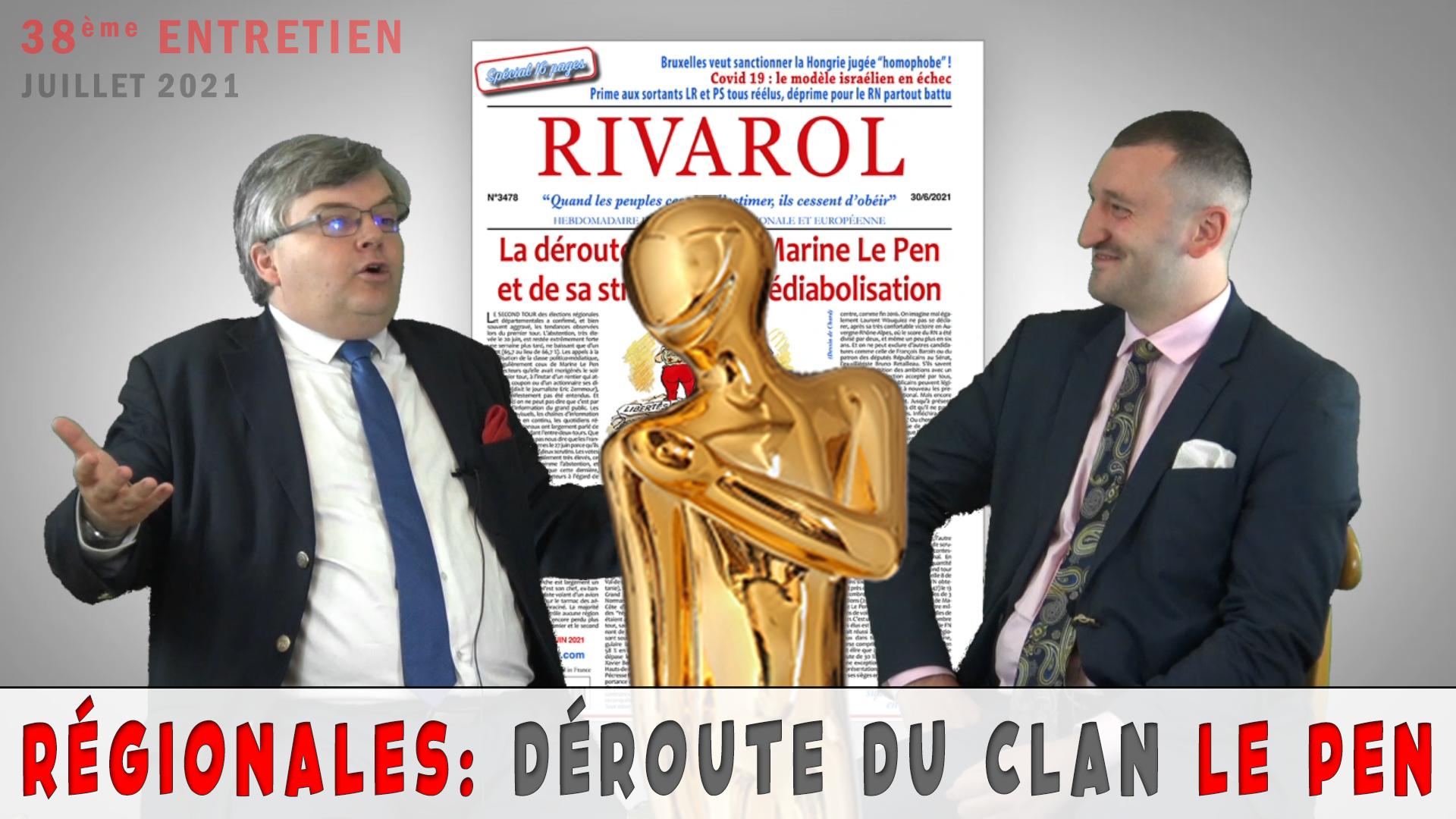 &quote;Régionales: abstention record et déroute du clan Le Pen&quote;, juillet 2021 avec Jérome Bourbon